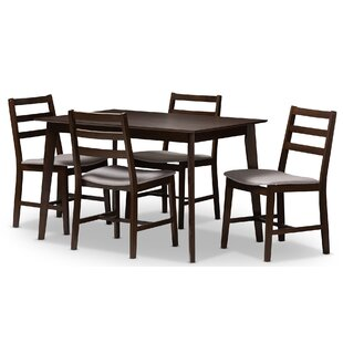 Winfree Upholstered 5-Piece Dining Set