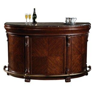 Brainard Bar with Wine Storage by Canora Grey