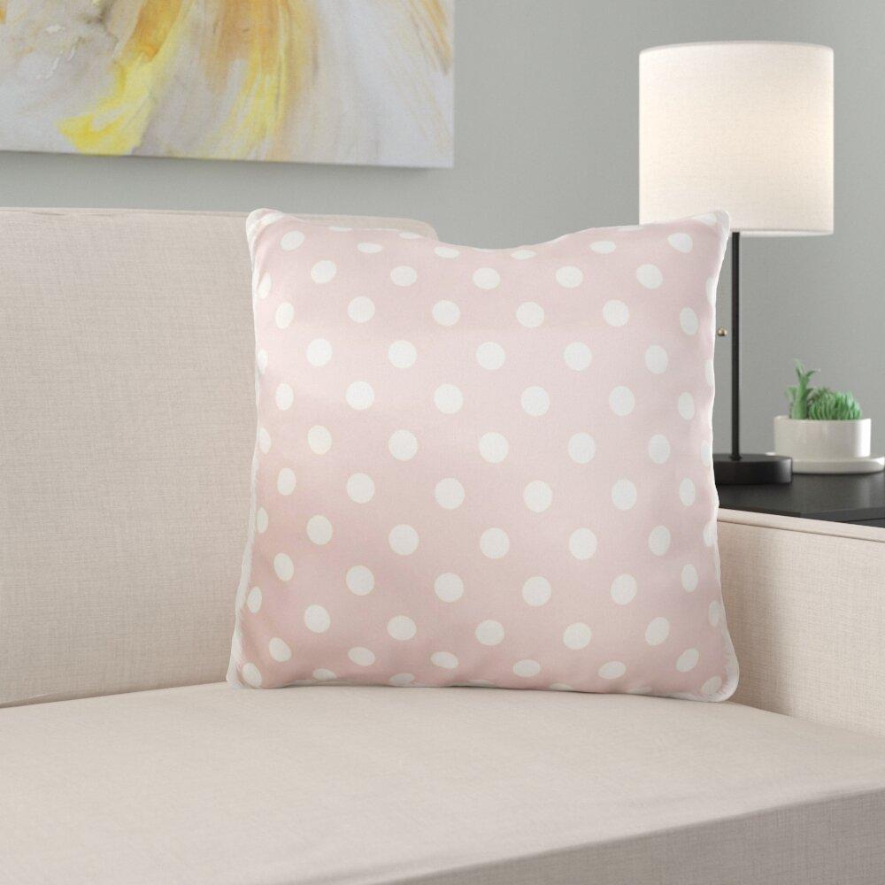East Urban Home Yukon Pale Polka Dot Print Throw Pillow Cover Wayfair