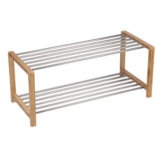 Read Reviews Large 2-Tier 8 Pair Shoe Rack By Household Essentials