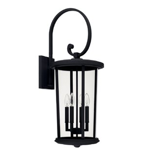 Read Reviews Brutus 4-Light Outdoor Wall Lantern By Alcott Hill