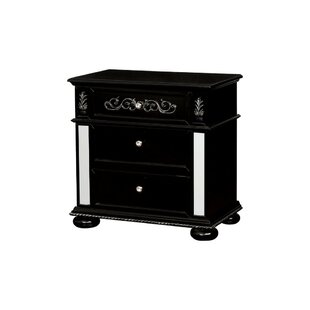 Monticello Solid Wood 3 Drawer Nightstand by Rosdorf Park