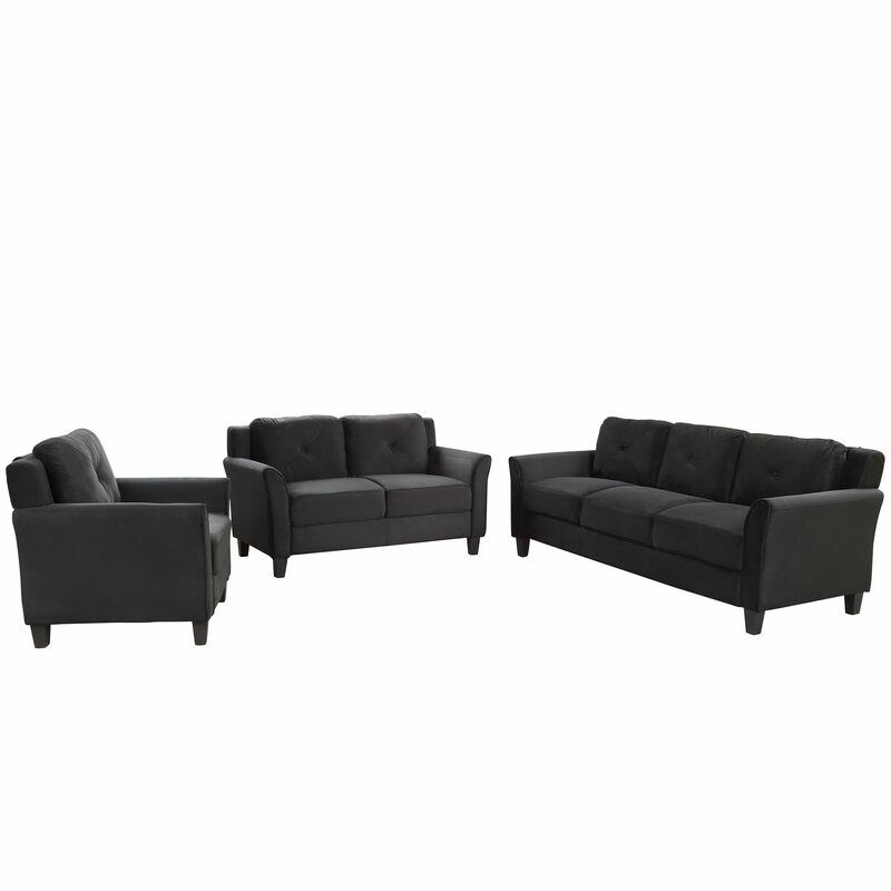 Winston Porter 3 Piece Standard Living Room Set
