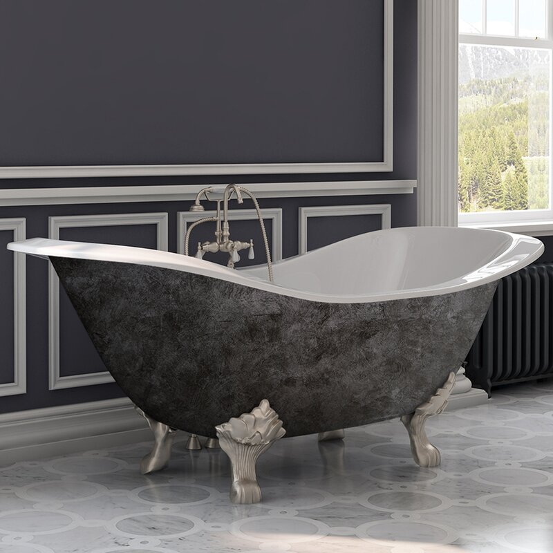 Cambridge Plumbing Soaking Cast Iron Clawfoot Bathtub