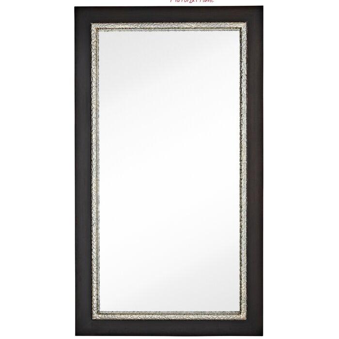 Majestic Mirror Large Simple Rectangular Warm Dark Brown Wood Framed ...
