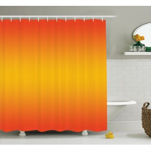 Inspired Tropical Summer Themed Print Single Shower Curtain