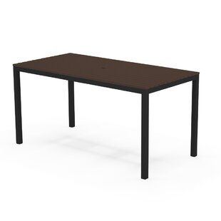 Loft Powder-Coated Aluminum Dining Table by Elan Furniture Discount