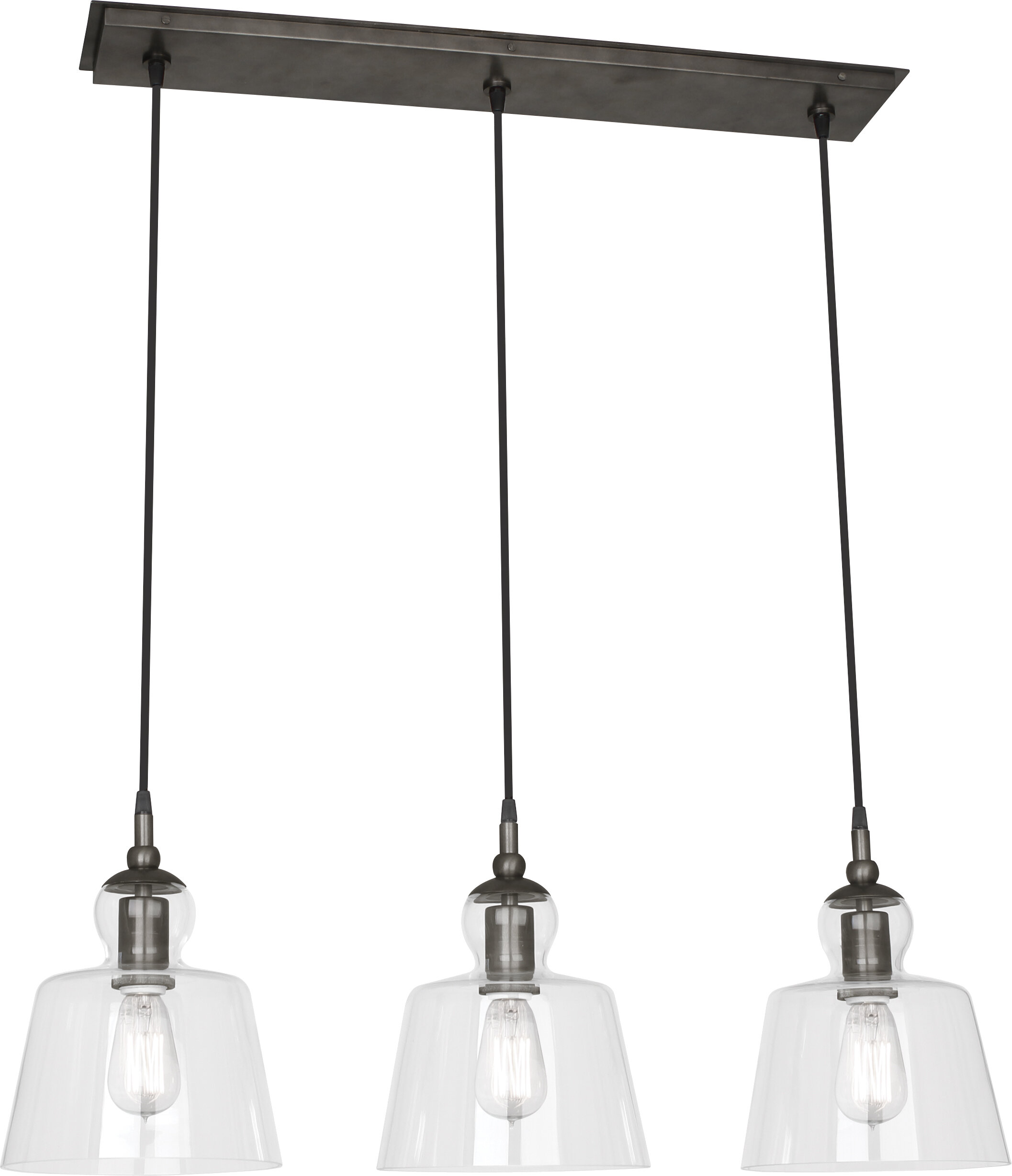 Robert Abbey Albert 3 Light Kitchen Island Linear Pendant Perigold