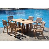 Mastropietro Luxurious 7 Piece Teak Dining Set