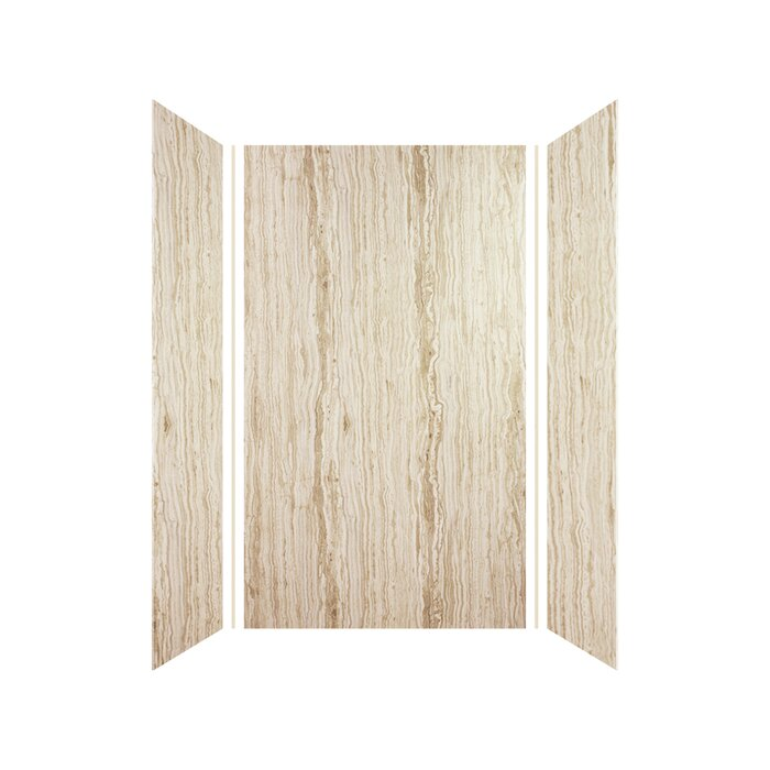 Expressions 72 X 42 Three Panel Shower Wall With Silicone Adhesive