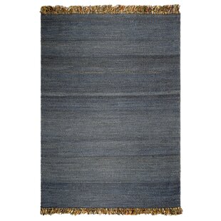 West Side Saguaro Hand-Woven Blue Area Rug by Breakwater Bay
