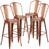 Ortega Metal 30 Bar Stool (Set of 4) by Williston Forge