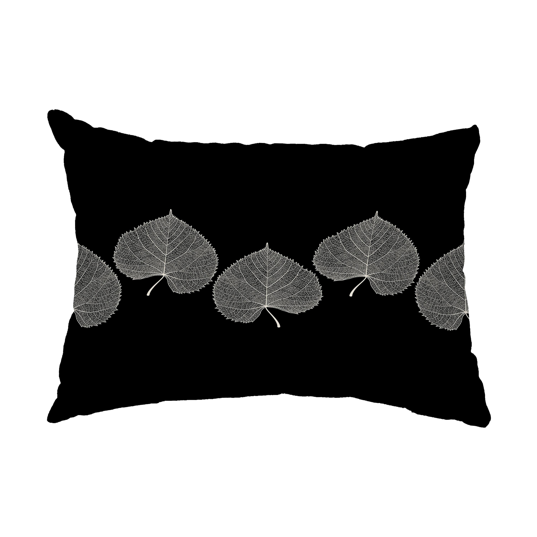 Winston Porter Heeter Leaf Print Floral Decorative Indoor Outdoor Lumbar Pillow Reviews Wayfair