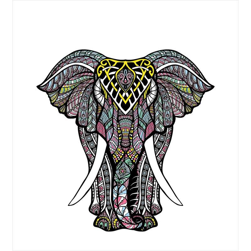 Ambesonne Elephant Mandala Sacred Symbol Of Strength Spirit Animal