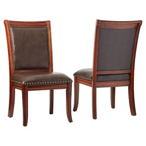 Sidney Genuine Leather Upholstered Dining Chair (Set of 2) by Alcott Hill