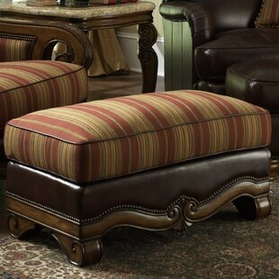 Michael Amini Toscano Leather Ottoman