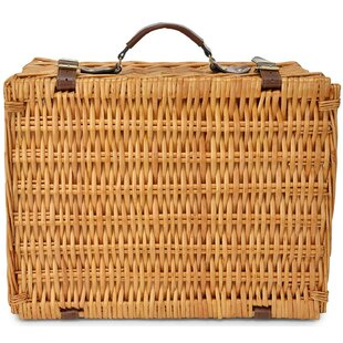 Wicker Picnic Basket, Service for 2
