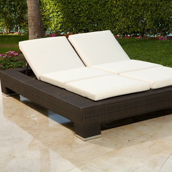 Nice Ropp Double Chaise Lounge With Cushion Part 23