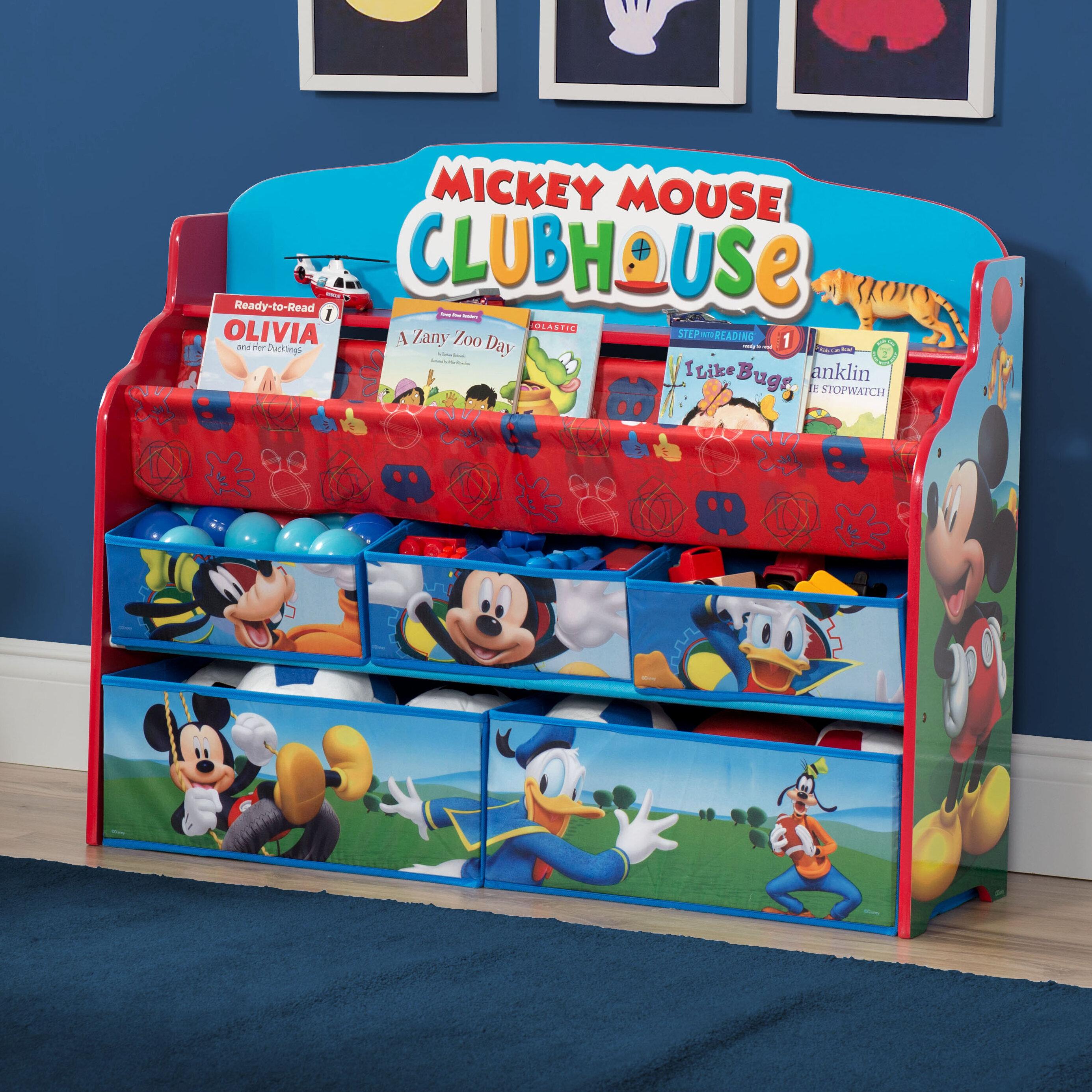 Delta Children Mickey Mouse Deluxe Book and Toy Organizer u0026 Reviews | Wayfair  sc 1 st  Wayfair & Delta Children Mickey Mouse Deluxe Book and Toy Organizer u0026 Reviews ...