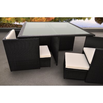 Stella 9 Piece Dining Set with Cushions Solis Patio