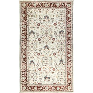 One-of-a-Kind Sultanabad Handwoven Wool Cream/Red Area Rug by Bokara Rug Co., Inc.