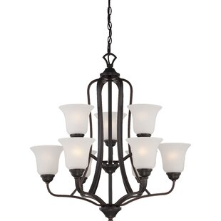 Hardin 9-Light Shaded Chandelier by Charlton Home