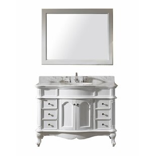 Online Reviews Zelaya 48 Single Bathroom Vanity Set with Mirror By House of Hampton