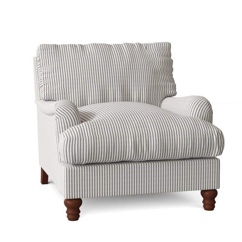 Witham 36'' Wide Tufted Down Cushion Armchair