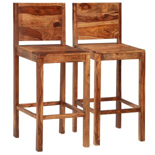 Union Rustic Wooden Seat Bar Stools