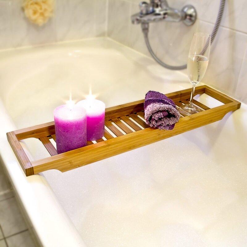 Relaxdays Bathtub Caddy & Reviews | Wayfair.co.uk