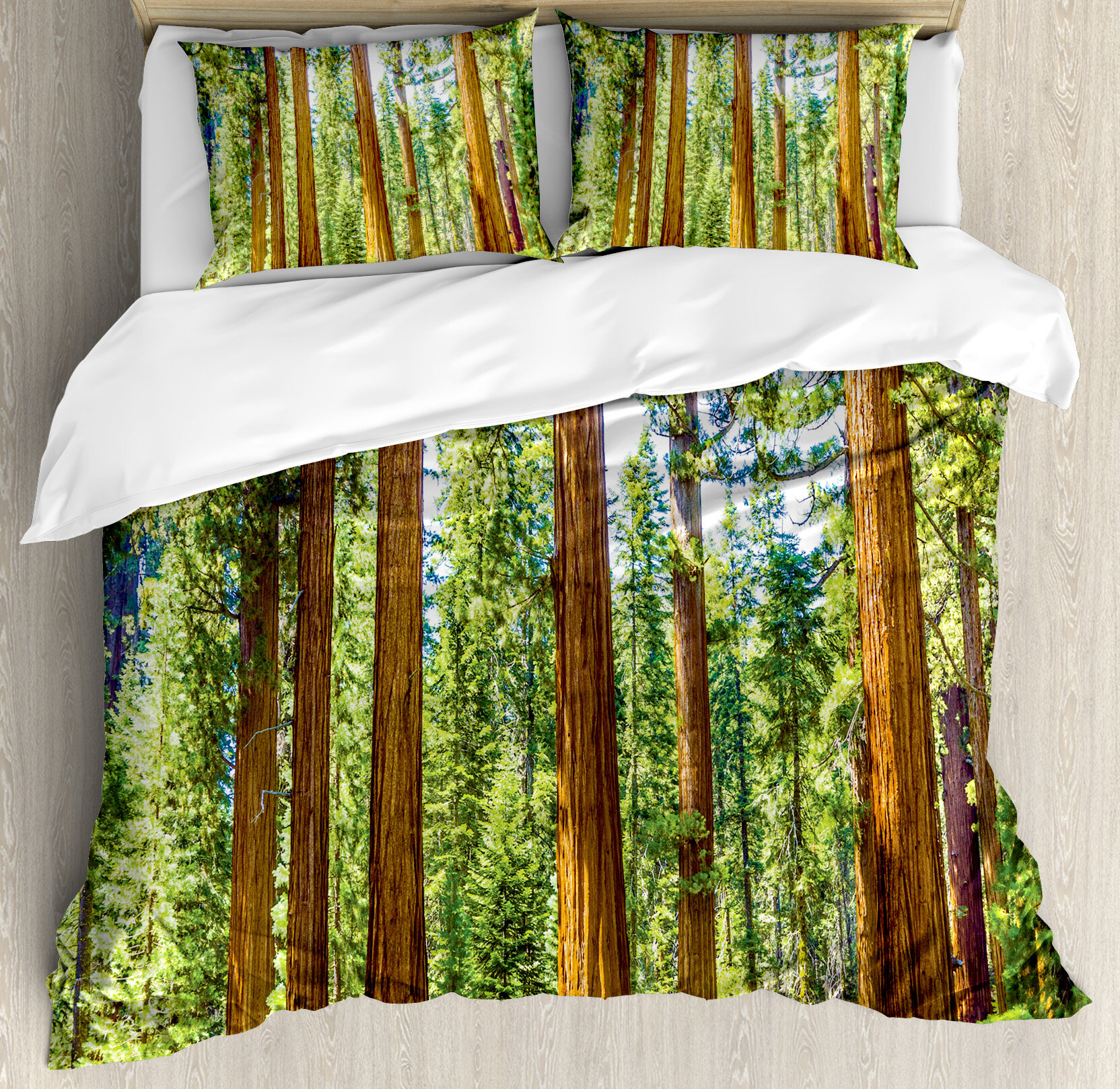 Ambesonne National Parks Home Up View Of Tree Branches Spring Conifers Sequoia Art Prints Duvet Cover Set Wayfair