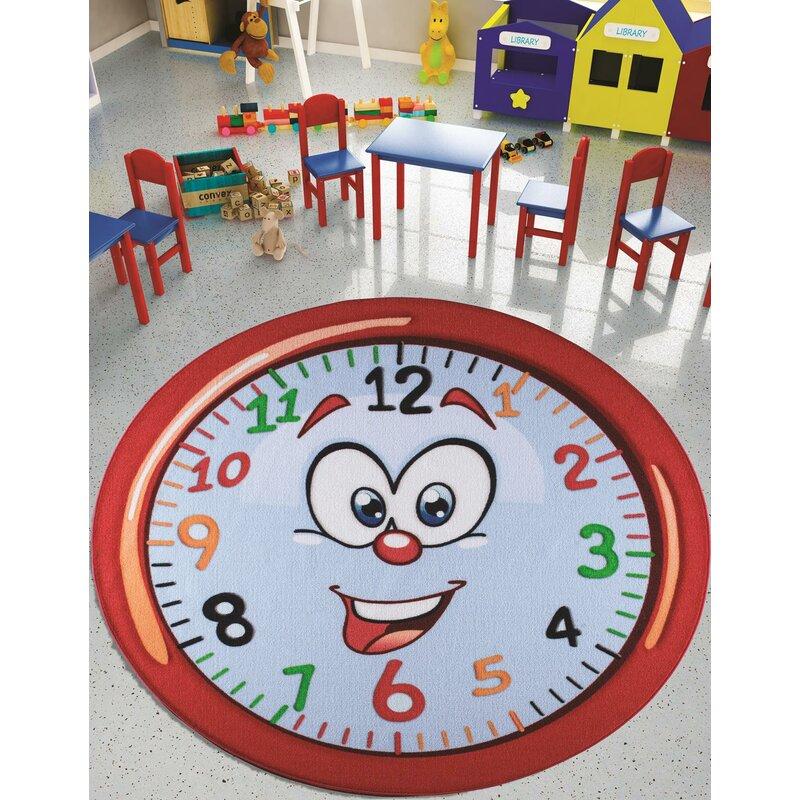 Zoomie Kids Josepha Animal Print Dhurrie Red Area Rug Wayfair