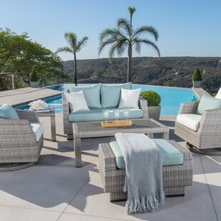 Greenfield Deluxe Love and Motion 6 Piece Sunbrella Sofa Set with Cushions