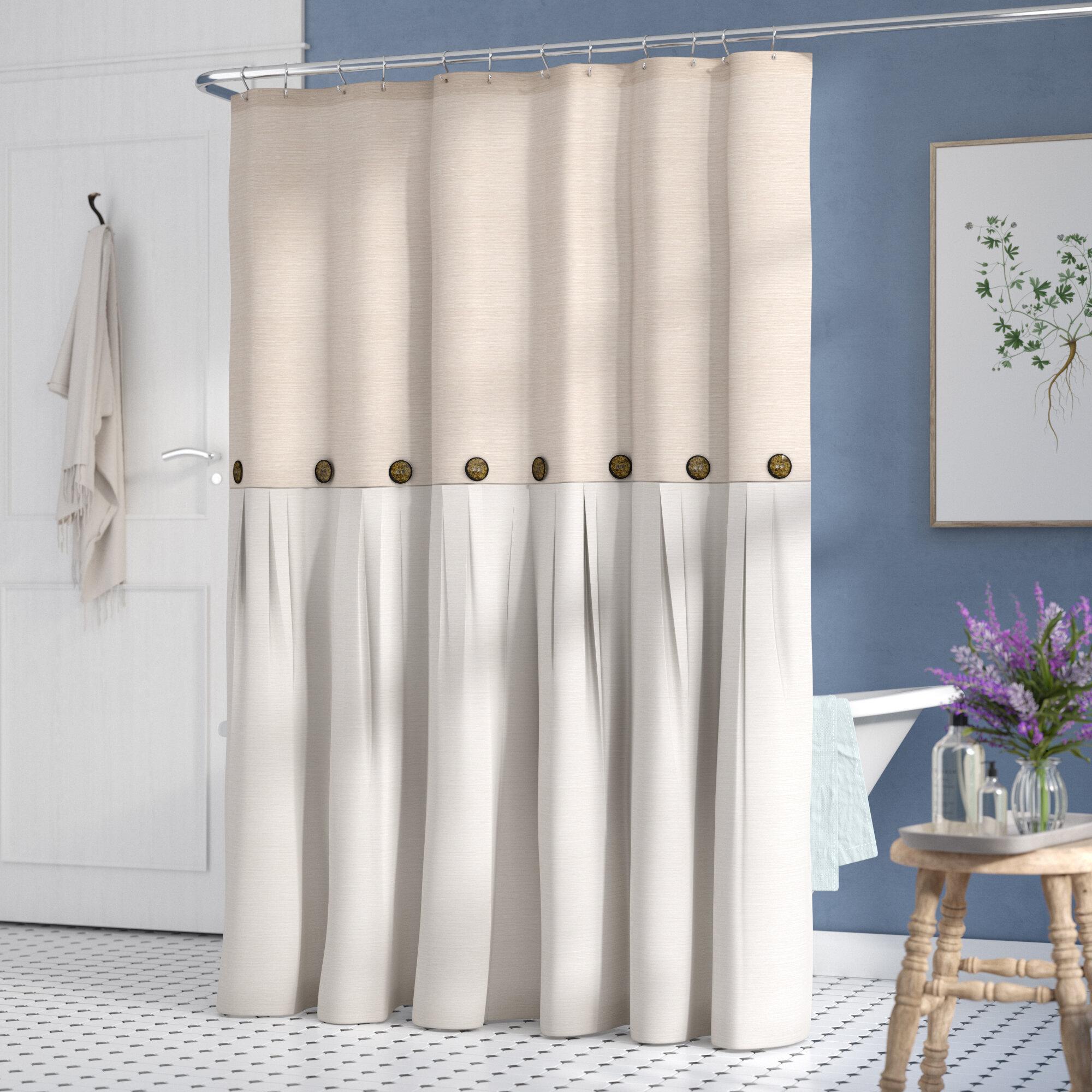 Gracie Oaks Ruya Single Shower Curtain Reviews Wayfair