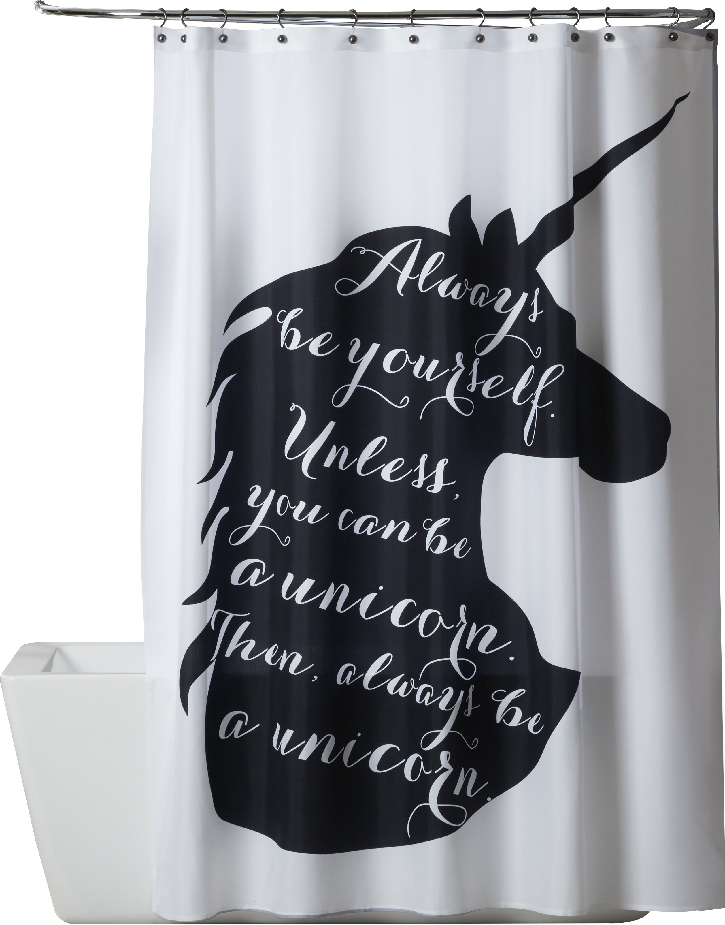 Isabelle Max Ailish Always Be A Unicorn Single Shower Curtain Wayfair