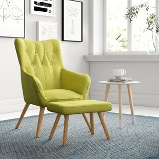 Georgia Wingback Chair And Footstool By Zipcode Design