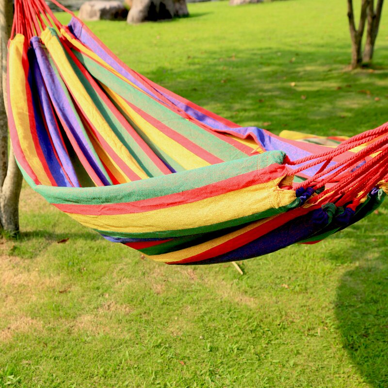 "AdecoTrading Hanging Suspended Tree Hammock  Size: 63"" W x 118"" D, Color: Cayenne"