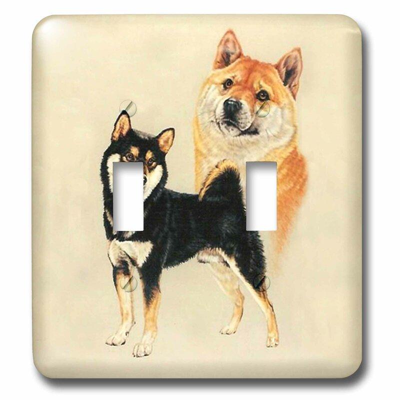 3drose Shiba Inu 2 Gang Toggle Light Switch Wall Plate Wayfair