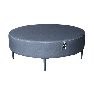Emory Outdoor Oversized Round Powder Coated Aluminum Coffee Table