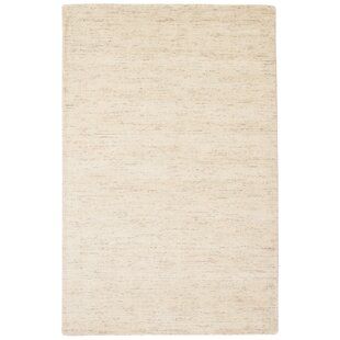 Low priced Volmer Hand-Loomed Ivory/White Area Rug By Latitude Run