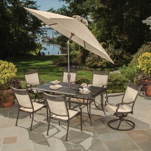 Doucette 7 Piece Dining Set With Umbrella by Red Barrel Studio