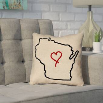 East Urban Home Spread Love Quote Chalkboard Style Pillow Cover Wayfair