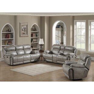 AC Pacific Estella Reclining 3 Piece Living Room Set