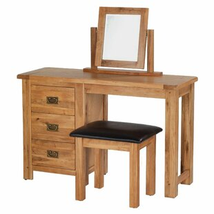 3 Drawer Dressing Table Set With Mirror By Union Rustic