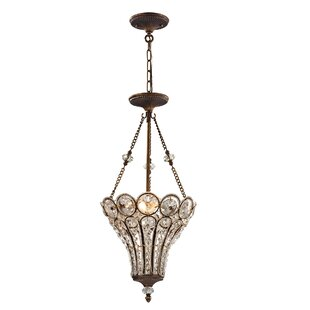 Astoria Grand Elberta 3-Light Crystal Chandelier