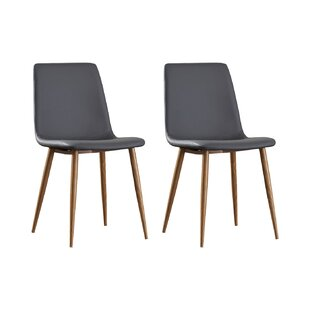 Review Curie Upholstered Dining Chair (Set Of 2)