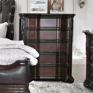 Rippy Traditional 5 Drawers Chest