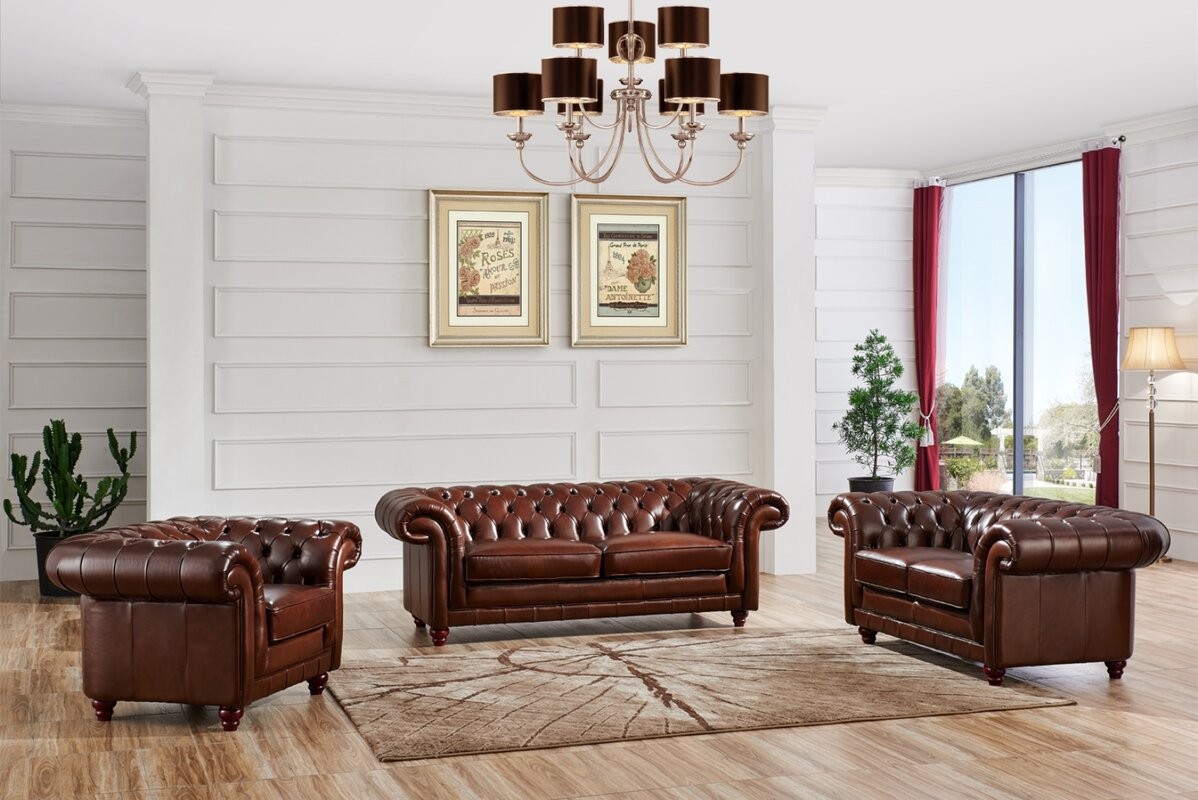 NociDesign Leather Chesterfield Sofa & Reviews | Wayfair