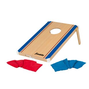 Franklin Sports Fold-N-Go Bean Bag Tic Tac Toe/Cornhole Combo Set
