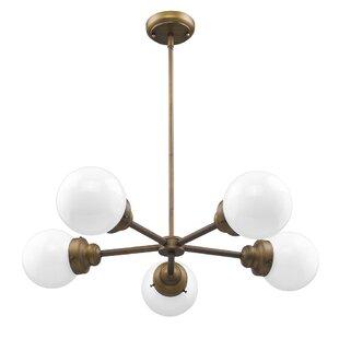 George Oliver Weisberg 5-Light Sputnik Chandelier